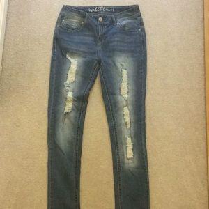Wallflower Distressed Skinny Jeans